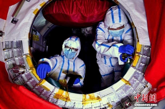 北京时间4月29日11时许,中国在文昌航天发射场用长征五号B遥二运载火箭发射空间站天和核心舱。图为天和核心舱。 图片来源:航天科技集团五院