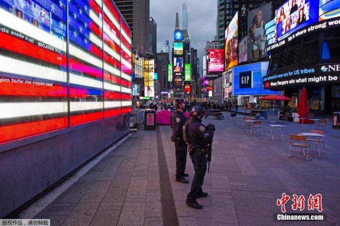 当地时间5月8日,美国纽约曼哈顿。