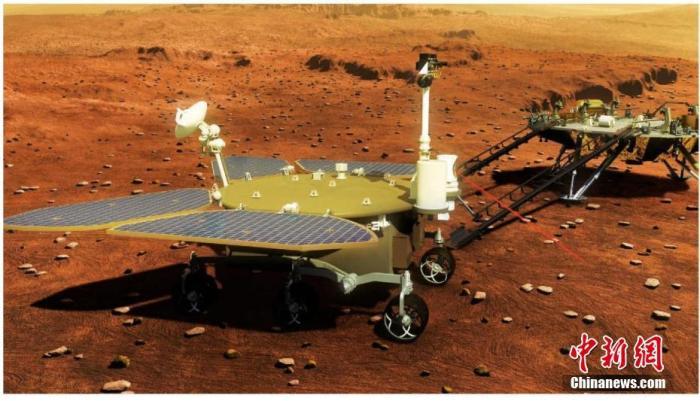 """""""祝融号""""火星车成功驶上火星表面"""