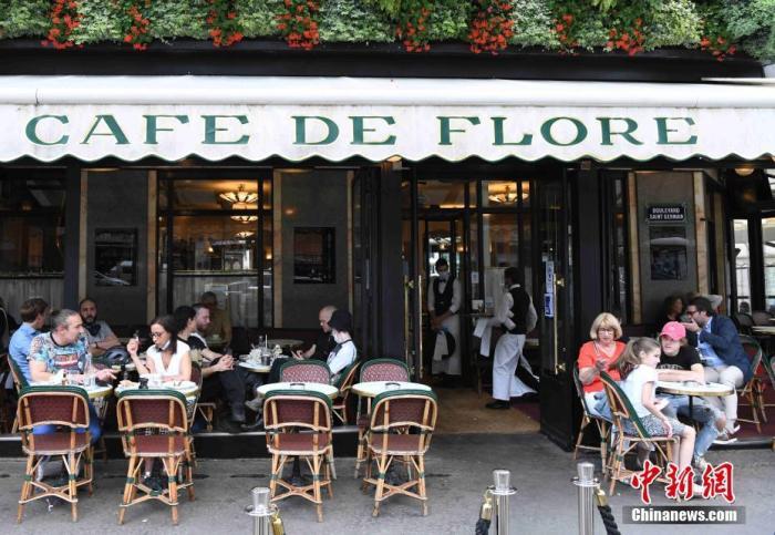 资料图:法国民众在巴黎咖啡馆。 <a target='_blank' href='http://www.chinanews.com/'>中新社</a>记者 李洋 摄