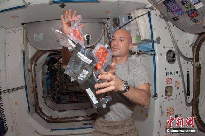 資料圖:宇航員在國際空間站中。圖片來源:視覺中國
