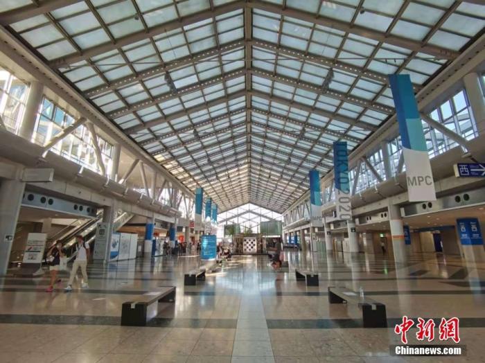 当地时间7月19日,记者探访东京奥运会主新闻中心(MPC)。 /p中新社记者 杜洋 摄