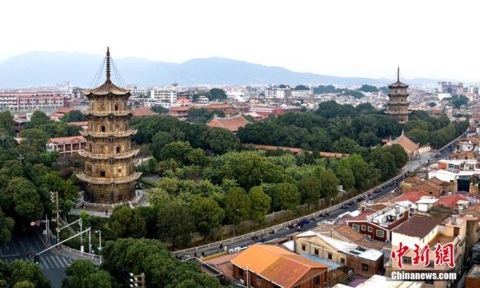 资料图:图为开元寺,它是宋元时期泉州规模最大、官方地位最突出的佛教寺院,反映了当地的多元学问。 王东明 摄
