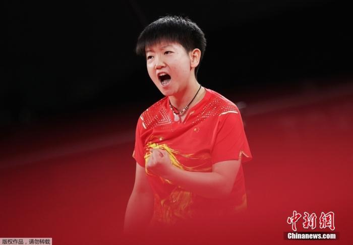 中国乒乓球选手孙颖莎。