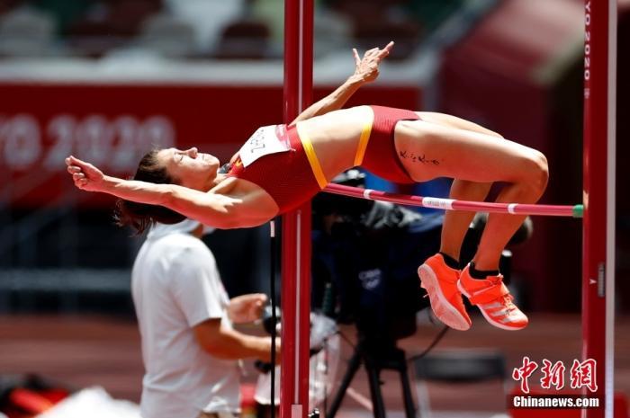 当地时间8月4日,中国选手郑妮娜力在田径女子七项全能跳高比赛中。<a target='_blank' href='http://www.chinanews.com/'>中新社</a>记者 富田 摄
