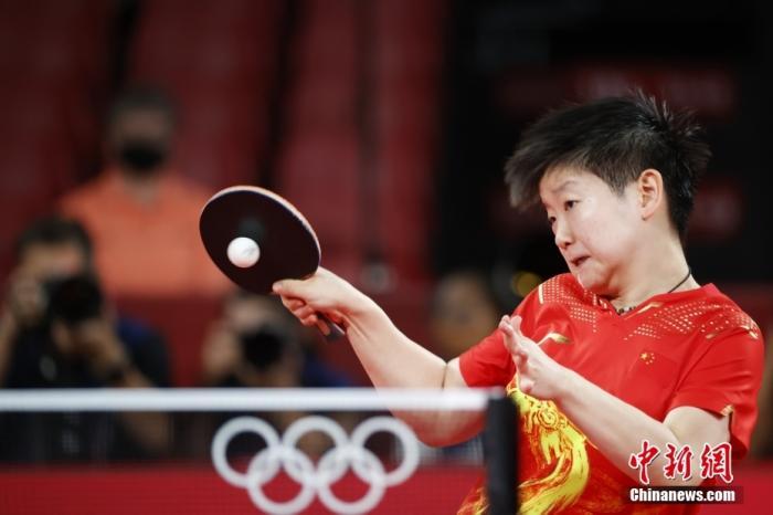 图为孙颖莎在比赛中。 lt;a target='_blank' href='http://www.chinanews.com/'gt;中新社lt;/agt;记者 韩海丹 摄