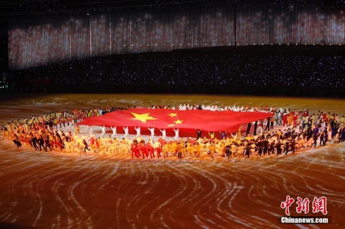 9月15日晚,第十四届全运会正式拉开帷幕,开幕式在位于千年古都西安的奥体中心举行。<a target='_blank' href='http://www.chinanews.com/'>中新社</a>记者 盛佳鹏 摄