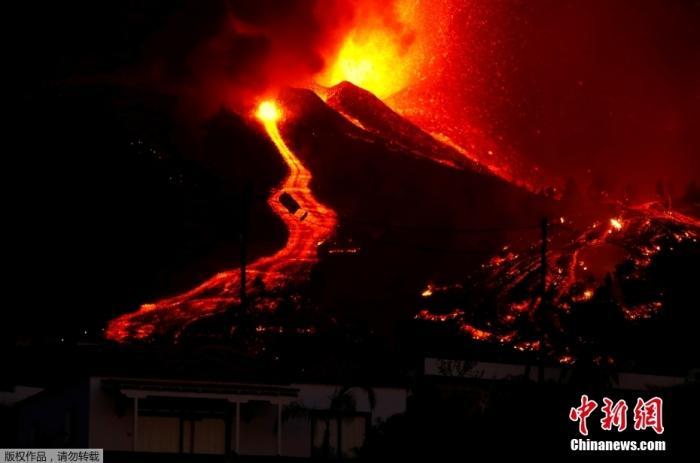 西班牙拉帕尔马岛岩浆再次迸发 累计疏散逾6000人