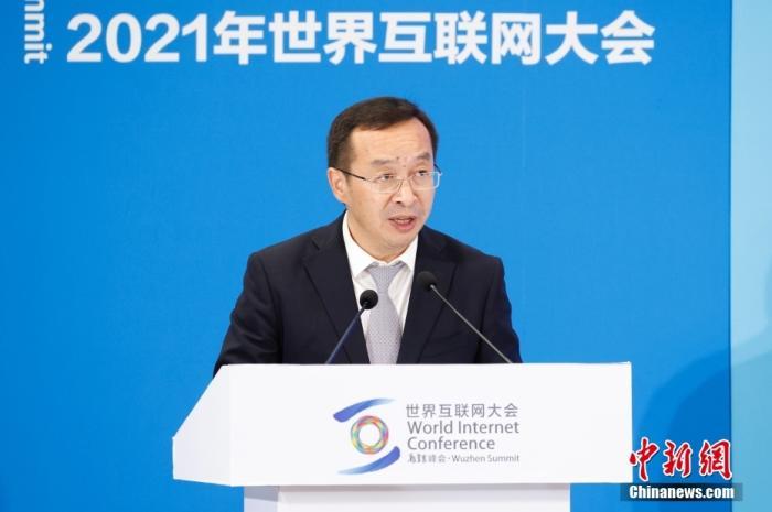 图为中国资讯社社长陈陆军致辞。 中新社记者 韩海丹 摄