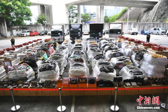 香港海关侦破走私案   检获市值约2.1亿港元货品