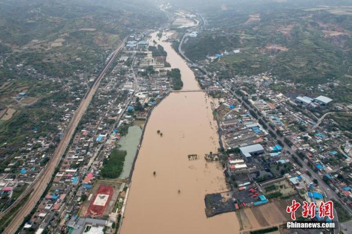 汾河下游遭遇近40年来最大洪峰 山西6000余公里公路灾损