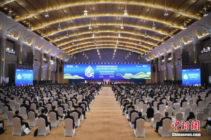10月11日,《生物多样性公约》第十五次缔约方大会在云南昆明开幕。图为开幕式现场。 <a target='_blank' href='http://www.chinanews.com/'>中新社</a>记者 刘冉阳 摄