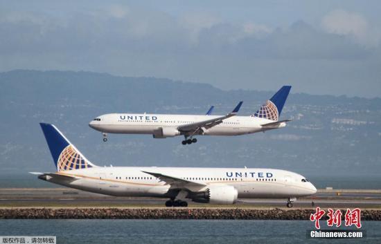 资料图:美联航客机