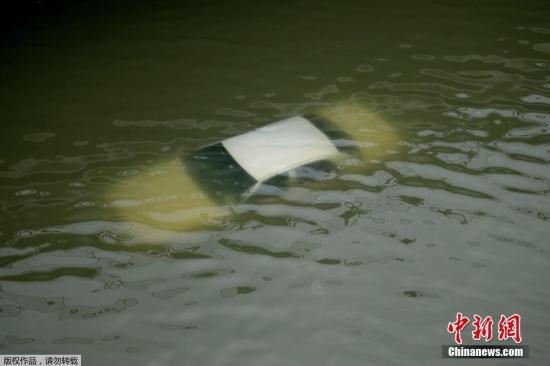 美休斯敦遭遇空前洪灾水患 当地2座水库开闸泄水