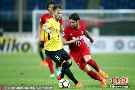 资料图:亚冠联赛1/8决赛第一回合 天津权健0:0广州恒大。 图片来源:Osports全体育图片社