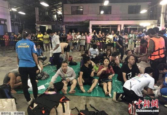 7月5日,泰国南部旅游胜地普吉岛产生 沉船意外,3艘共载有近140名中国和欧洲旅客的参观船在大浪中推翻。