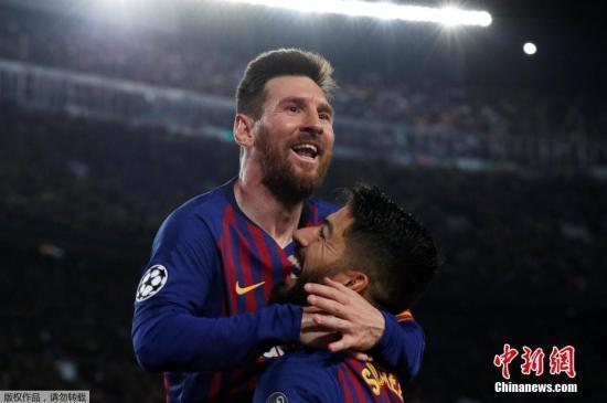 梅西在7分钟内连入两球,自14年前收获生涯首球以来,梅西已经为巴塞罗那打入整整600球。
