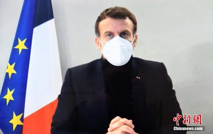 资料图:法国总统马克龙。a target='_blank' href='https://www.chinanews.com/'/p中新社/a记者 李洋 摄